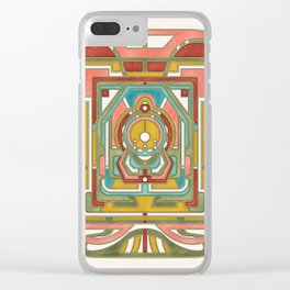 Butterfly Express - Art Nouveau Design Clear iPhone Case