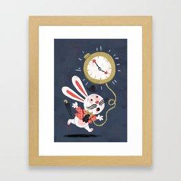 White Rabbit - Alice in Wonderland Framed Art Print