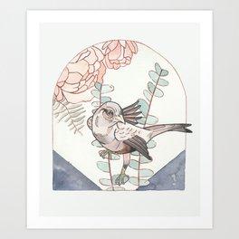 Indigo Bird Art Print