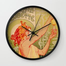 Classic French art nouveau Absinthe Robette Wall Clock