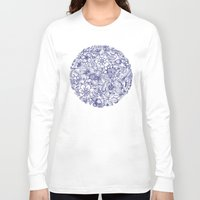 leaf Long Sleeve T-shirts featuring Circle of Friends by micklyn