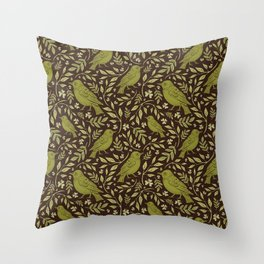 Little Wrens Hiding In The Hedgerow Throw Pillow