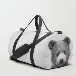 Baby Bear - Black & White Duffle Bag
