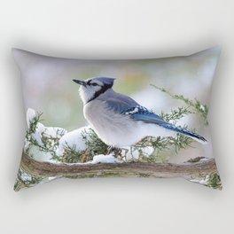 Look Skyward Blue Jay Rectangular Pillow