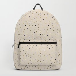 Gold & Blue Dots Backpack