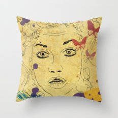Shocked! Throw Pillow