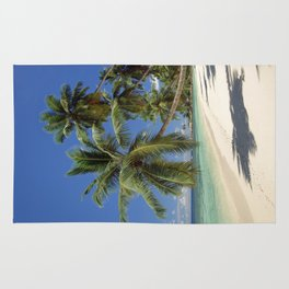 Palm beach, the Seychelles, La Digue island, Rug