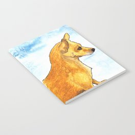 Dog portrait watercolor painting Notebook