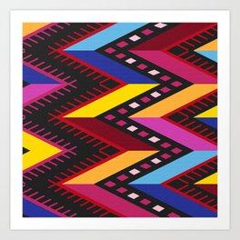 Colored huipil Art Print