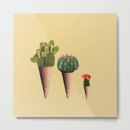 3 Cactus Metal Print