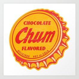 Vintage Chocolate Chum Soda Pop Bottle Cap Art Print