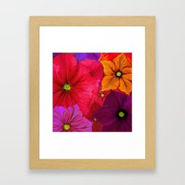 Surfinie and anemones Framed Art Print