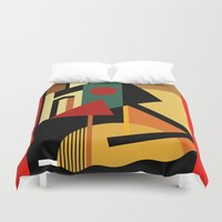 kandinsky Duvet Covers featuring THE GEOMETRIST by THE USUAL DESIGNERS