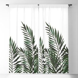 Palm Leaves Green Blackout Curtain