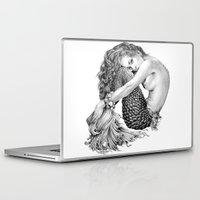 mermaid Laptop & iPad Skins featuring Mermaid by April Alayne