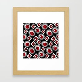 """Abstraction. """"Pebbles """" on a black background . Framed Art Print"""