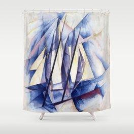 Sail Movements Shower Curtain