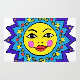 Mayan Sunshine Girl by Amanda Martinson Rug