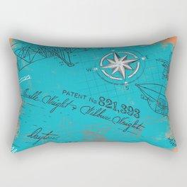 Retro flying Rectangular Pillow