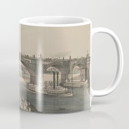 Vintage Illustration of The Great St louis Bridge (1874) Coffee Mug