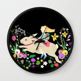 Hppy Rabbit Ride Wall Clock