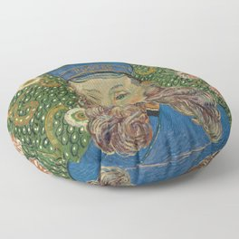 Van Gogh Postman- Portrait of Joseph Roulin Floor Pillow