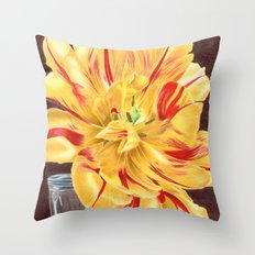 Tinge of Red Throw Pillow