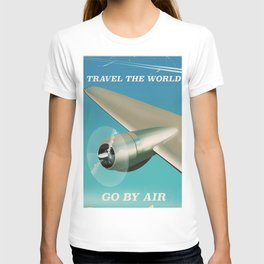 Travel the world - Go by air vintage poster T-shirt