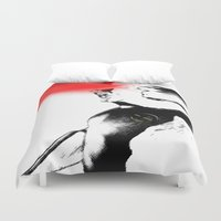 cyclops Duvet Covers featuring Cyclops Blast by Scofield Designs