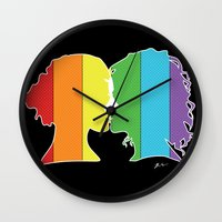 lesbian Wall Clocks featuring Lesbian Love  by Winter Graphics