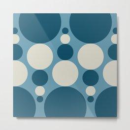 Fibonacci Pop in Blue Metal Print