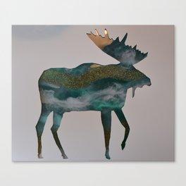 Moose - ocean gold Canvas Print