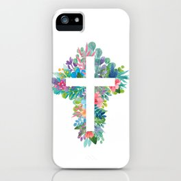 Holy Cross Flowerbed iPhone Case