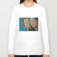 mulder Long Sleeve T-shirts featuring X Files. Mulder and Scully by Jenn