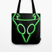 invader zim Tote Bags featuring INVADER ZIM LOGO by jjb505