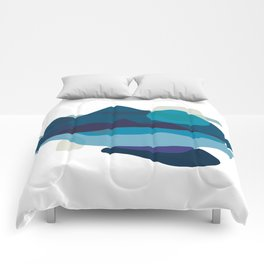Abstract Mountains Landscape in Blue Comforters