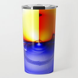 sub sonic waves Travel Mug