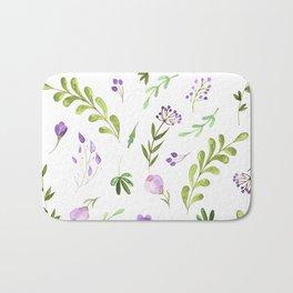 Purple Flower Field Bath Mat