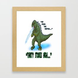 King of the Monsters... GODZILLA!  This is the Kaiju the Jaegers of Pacific Rim SHOULD be Fighting! Framed Art Print