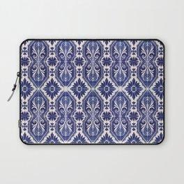 Portuguese Tiles Azulejos Blue White Pattern Laptop Sleeve