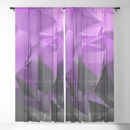 Polygonal background. Abstract triangulated texture. backdrop. Triangular style. Modern Design 3d. d Sheer Curtain