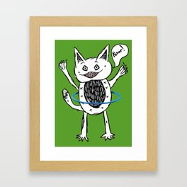 Monster Hula Hoop Framed Art Print