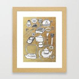 Chinese Tea Doodle 1 Framed Art Print