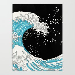 The Great Wave (night version) Poster