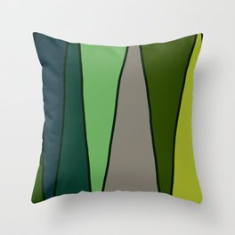 Green Abstract Pattern Turtle Throw Pillow