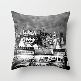 The Candy Factory Throw Pillow