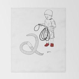 Worm Wrangler Throw Blanket