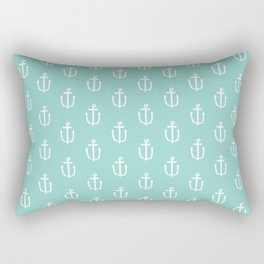 Anchor mint minimal nautical pattern anchors pattern Rectangular Pillow