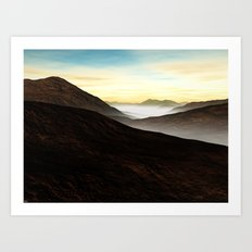 Foggy Mountains Art Print
