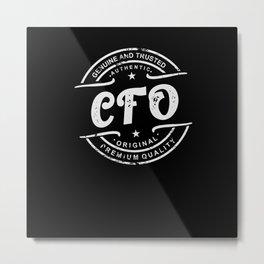 Best CFO retro vintage distressed logo stamp Metal Print